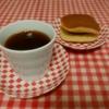 📛いずちほうのおさらで、コーヒーとどらやきをたべました~*おやつです~*