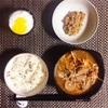 スンドゥブ、小粒納豆、ヨーグルト。