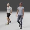 無料で使えるフリーの3D人型モデル。【Blender #516】