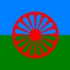 【フラメンコ色々】赤い車輪の旗