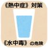 《熱中症》対策と《水中毒》の危険△