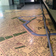 南北線市ヶ谷駅の歴史博物館を通る