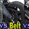 チェーン、ベルト、シャフトのどれがバイクにとって最も良いかを考察