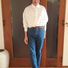 真っ白なシャツはプチプラで買って順次アップデート