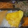 [19/08/09]「琉花」の「豚肉もやしにら炒め・チキンカツ(日替わり弁当)」 300円 #LocalGuides