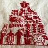 クリスマス刺繍のファブリックパネル