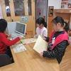 図書館開館 ボランティアさんたちの活躍