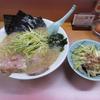 習志野 かいざん本店 かいざんラーメン+ネギ丼+大盛りの日