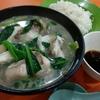 香港地元飯、定食屋:お魚の苦瓜あんかけソース定食とプリプリ魚スープの定食