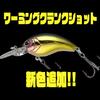 【ノリーズ】ビッグフィッシュを狙える小型クランク「ワーミングクランクショット」に新色追加!