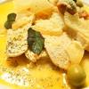 鶏のオリーブ煮