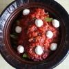 48冊目『〆まで楽しむおつまみ小鍋』から3回めは牛肉とアスパラのトマト鍋