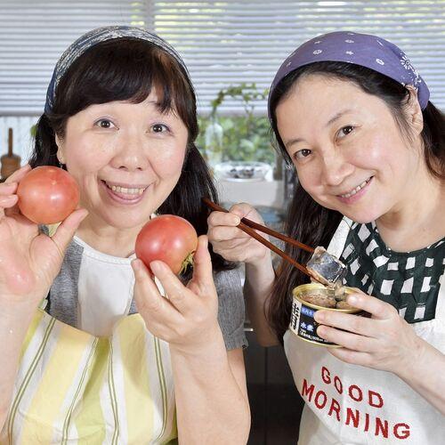 下準備いらず!切って並べるだけなのに汁まで旨い「サバ缶とトマトの重ね焼き」【西原理恵子と枝元なほみのおかん飯】