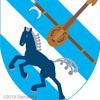 馬の紋章。馬頭琴!