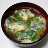 ミツバのかき玉汁&落花生の煮豆