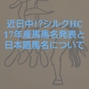 迫るシルクホースクラブの17年産馬馬名発表と日本語馬名について