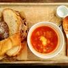 ル ミトロン カフェ @片倉町 塩豚と根菜のミネストローネ&パン食べ放題