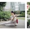 歌舞伎座、 屋上庭園にて・・