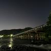 夜の京都嵐山をぶらぶらと