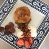大寒のメニュー 焼きリンゴ、りんごとはちみつのグラノーラ、たい焼き(チョコレート)