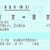 東京から東京を2周する乗車券(往復・連続)
