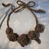 【かぎ針編み】薔薇のネックレス【初心者】