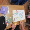 3年生:算数 色棒を使って三角形の仲間分け