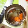 キャベツサンド、キウィ、カレースープ