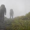 台風一過神無月の剣山 頂の風景