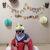 育児日記  〜生後6ヶ月 ハーフバースデー!!手作り王冠と飾りつけをしてお家でお祝い!!〜