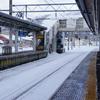 千秋公園(冬) 凍った池と白銀の世界