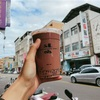 【台湾】ドリンクスタンド50嵐のタピオカとオーツ麦入りドリンク、 珍珠燕麥阿華田!寒い冬はあたたかいドリンクであたたまろう!