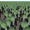 アニメーションするオブジェクトを大量に表示する(VAT + GPUInstancing)