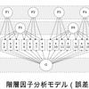 lavaanパッケージを用いて階層因子分析を推定する[R]