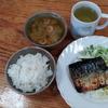 焼き鯖とキャベツの味噌汁