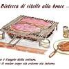 Bistecca di vitello alla brace「炭火焼き子牛肉のステーキ」