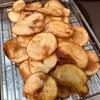 オリーブオイルで手作りポテチ♪2度揚げでパリパリ♪