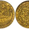 イギリス(イングランド)1354年頃エドワード3世ノーブル金貨MS64