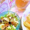 茄子とトマトの高菜豆腐サラダ