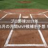 プロ野球2017年5月の月間MVP候補を予想!