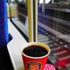 E4系でJR東日本ラスト車販コーヒーを⑤・・・越後湯沢駅ホームと、お供はサンドウヰッチ^.^/