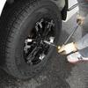 ハイエース キャンピングカーの冬支度 スタッドレスタイヤに交換