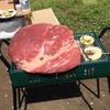 今年一発目のBBQは巨大な肉塊で幕開けしました!