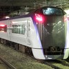 E353系S206編成 J-TREC出場 試運転in松本駅(2020年8月11日)