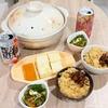 豚キムチ鍋だしの炊き込みごはんと揚げ出し豆腐