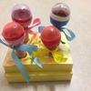 手作り玩具・ラップの芯とガチャガチャの玉で作るマイク