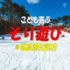 名古屋から気軽に行ける雪遊びスポット 旭高原元気村【東海ドライブ】