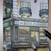続・セリア塗り絵 03.町のパン屋
