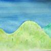 マスキングインクと水筆と平成最後の夏の空