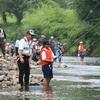 鮎の友釣り体験2019in津保川。関市武儀地域の津保川中学生がチャレンジ!